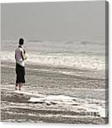 Young Man And The Pacific Ocean Canvas Print