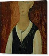 Young Man With A Black Waistcoat Canvas Print