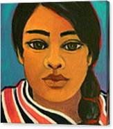 Young Mexican Girl Canvas Print