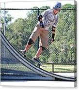 Young Skateboarder Canvas Print