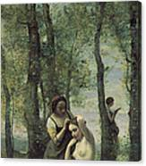 Young Woman At Her Toilet Canvas Print