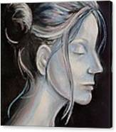 Young Woman In Profile-quick Self Study Canvas Print
