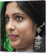 Young Woman India Day Parade Nyc 2012 Canvas Print