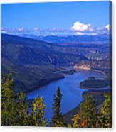 Yukon River In Fall Colors Canvas Print