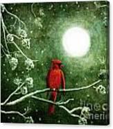 Yuletide Cardinal Canvas Print
