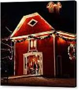 Yuletide Celebration In The Carriage House Canvas Print