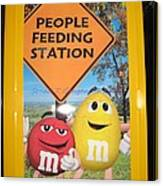 Yummy M And M's Canvas Print