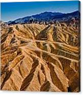 Zabriskie Point Badlands Canvas Print