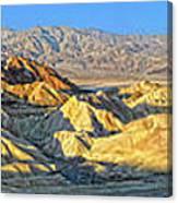 Zabriskie Point Death Valley Canvas Print