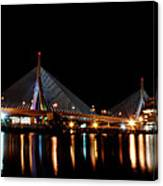 Zakim Over The Charles River Canvas Print