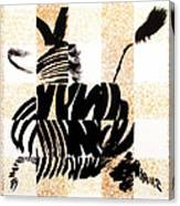 Zebra In Flight Canvas Print