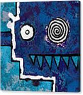 Zeeko - Blue And Aqua Canvas Print