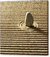 Zen Stone On Sand Canvas Print