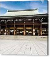 Zen Temple Under Blue Sky  Canvas Print