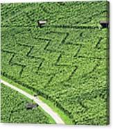 Zig-zag In Vineyards Canvas Print