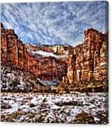 Zion Canyon In Utah Canvas Print