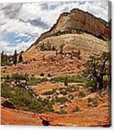 Zion Checkerboard Mesa And Hoodoos Canvas Print