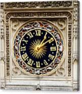 Zodiac Clock Canvas Print