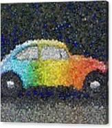 Zodiac Vw Bug Mosaic Canvas Print