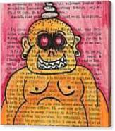 Zombie Buddha Canvas Print
