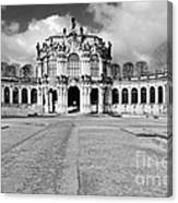 Zwinger Dresden Rampart Pavilion - Masterpiece Of Baroque Architecture Canvas Print