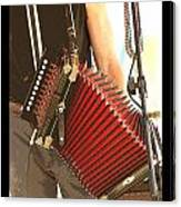 Zydeco Red Accordian Canvas Print
