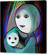 044 - Full Moon  Mother And Child   Canvas Print
