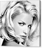 # 3 Jessica Simpson Portrait Canvas Print