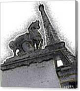 # 4 Paris France Canvas Print