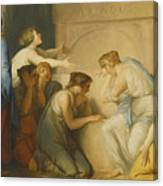 A Group Of Female Mourners At The Tomb Of Achilles Canvas Print