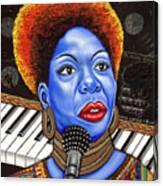 A Part Of Nina Simone Canvas Print