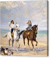 A Ride By The Sea Canvas Print