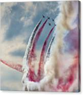 Aerobatic Group Formation  Canvas Print