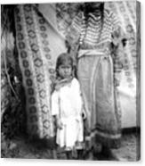 American Indian Woman Female Daughter 1890s Canvas Print