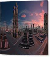 Amsterdam City Nighttime Image Canvas Print