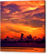 ... And As The Sun Sets On Another Beautiful Day Canvas Print