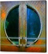 Art Deco Door In Halifax Nova Scotia Canvas Print