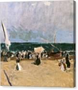 At The Beach Valencia Canvas Print