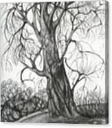 Autumn Dancing Tree Canvas Print