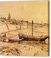 Bank Of The Rhone At Arles Canvas Print
