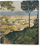 Barcelona Seen From Vallvidrera Canvas Print
