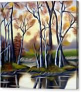 Birch Bay Lagoon Dreamy Mirage Canvas Print