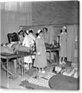 Blood Drive 1958 Black White 1950s Archive Brick Canvas Print