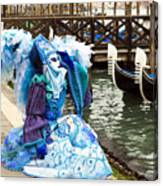 Blue Angel 2015 Carnevale Di Venezia Italia Canvas Print