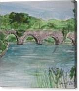Bridge  In Bunclody, Ireland Canvas Print