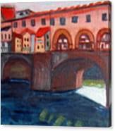 Bridge On The Arno Canvas Print