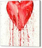 Broken Heart - Bleeding Heart Canvas Print