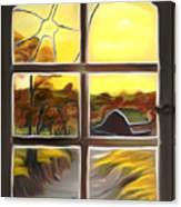 Broken Window Dreamy Mirage Canvas Print