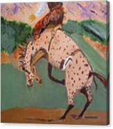 Bronco Rider On A Horse Canvas Print