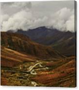 Brooks Range, Dalton Highway And The Trans Alaska Pipeline  Canvas Print